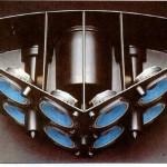 Il rappresentante più significativo della filosofia Direct/Reflecting è il Bose 901. Nella foto, la sua particolare struttura interna.